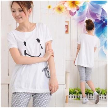 Áo cotton bầu họa tiết Smile XD 0213