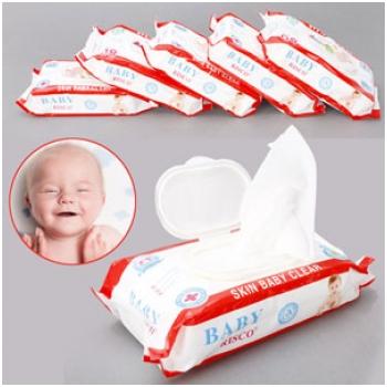 Combo 5 hộp khăn giấy ướt Baby Risco