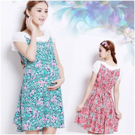 Váy bầu họa tiết hoa XD 0727