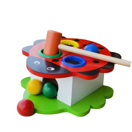 Bộ đồ chơi đập bóng hình thú đáng yêu - Đồ chơi gỗ an toàn cho bé G919