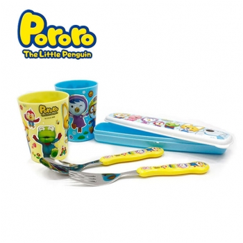 Bộ cốc, thìa, dĩa Pororo FS3980 cho bé