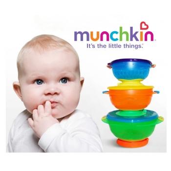 Bộ ba bát ăn chống đổ cho bé Munchkin MK 49003