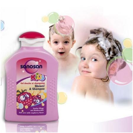 Sữa tắm, gội hương quả mâm xôi SANOSAN 200ML cho trẻ M1248