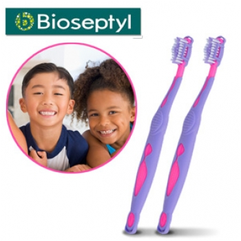Vỉ 2 chiếc bàn chải đánh răng Bioseptyl Bambino - S1564