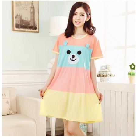 Váy bầu họa tiết chú gấu xinh xắn MB 2859