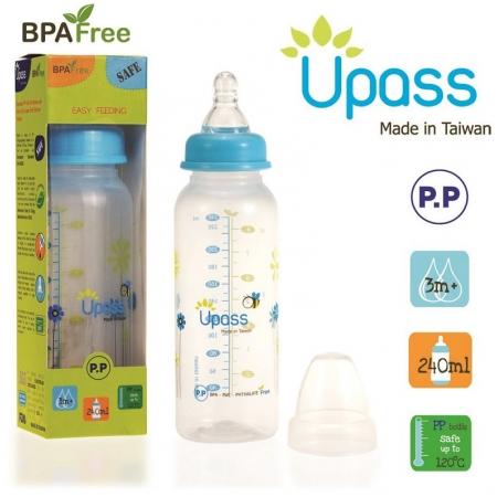 Bình sữa Upass chống sặc 240ml  UP06801CX/CL