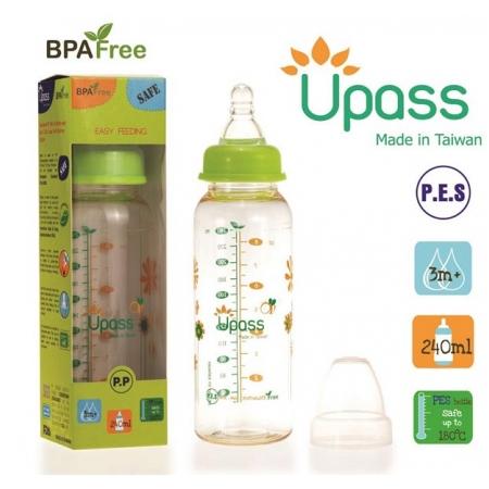 Bình sữa Upass nhựa PES 240ml UP02801CL/C