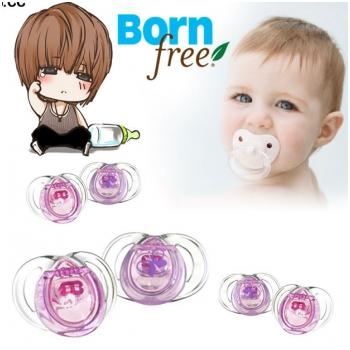 Combo 2 ti giả silicone Born free 0-6 tháng tuổi (màu hồng) BF47213