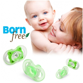 Combo 2 ti gia silicone Born free 0-6 thang tuoi (mau XANH LÁ) BF47203