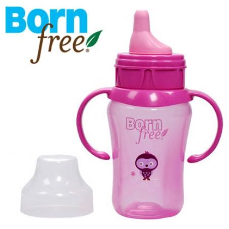 Cốc tập uống Bornfree 210ml hồng BF46450