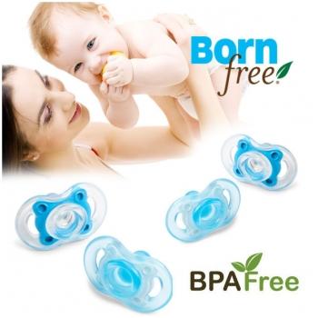Combo 2 ti giả silicone Born free 0-6 tháng tuổi (màu XANH) BF 46723