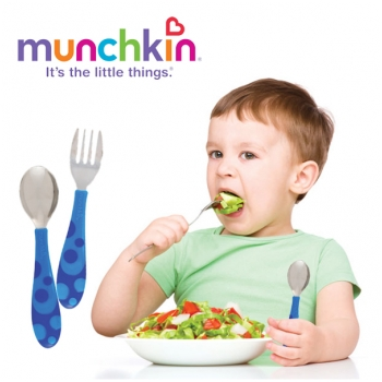 Bộ thìa, dĩa tập ăn cho trẻ Munchkin 32008