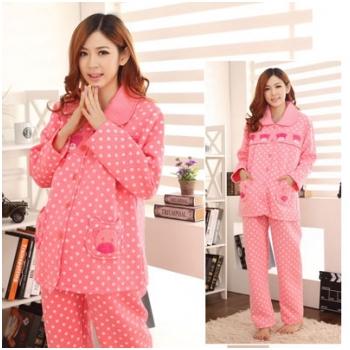 Trẻ trung, ấm áp với bộ đồ bầu kết hợp cho con bú vải bông dày MB01