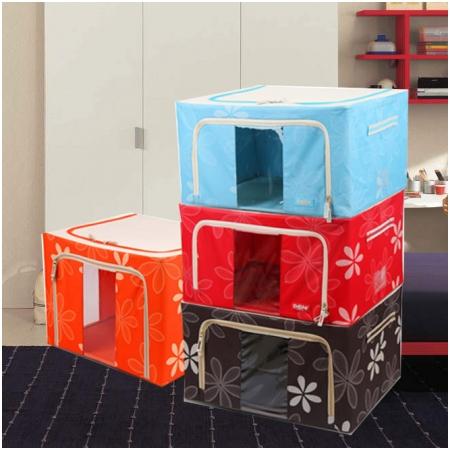 Tủ vải khung thép chịu lực đa năng Living Box - 88L