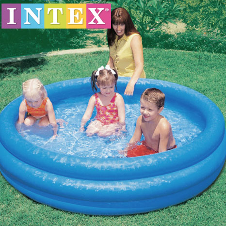 Piscina inflable 3 aros intex 147 x 33 cm bs for Piscina inflable intex