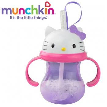 Cốc ống hút hình Hello Kitty - Munchkin 28026