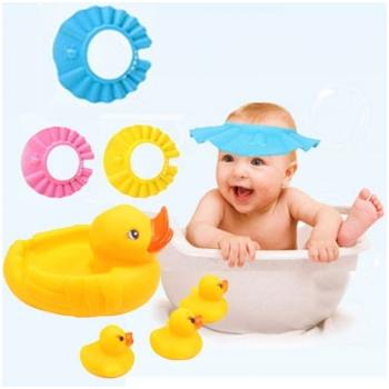 Combo 1 mũ tắm & 2 bộ đồ chơi mẹ con nhà vịt cho bé 5173