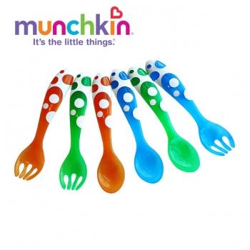 Bộ thìa dĩa Munchkin 6 chiếc Multi Fork & Spoons Set MK14905