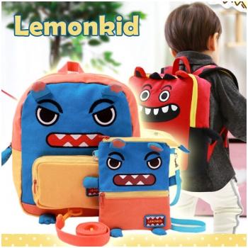 Set balo & túi đeo chéo Lemonkid hình quá vật Sully KC 24301