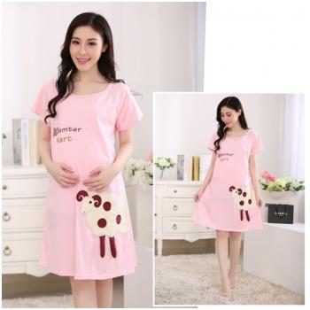 Váy bầu kết hợp cho con bú Little Sheep MB55-2