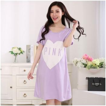 Váy bầu kết hợp cho con bú Pink Heart MB55-3