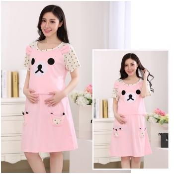 Váy bầu kết hợp cho con bú Lovely Bear MB55-6
