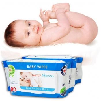 Combo 5 gói khăn ướt cao cấp Baby Wipes cho bé