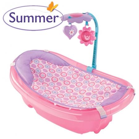Chậu tắm nhũ có lưới và thanh đồ chơi Summer SM 09255