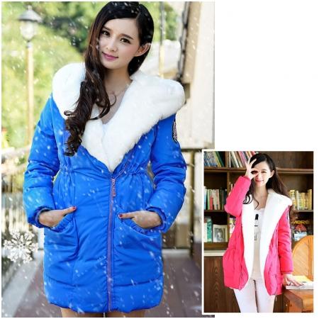 Áo khoác bầu lót lông thời trang HC1560