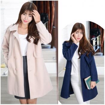 Áo khoác dạ bầu dáng dài thời trang HC1555