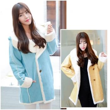 Áo bầu da lộn lót lông thời trang HC1549