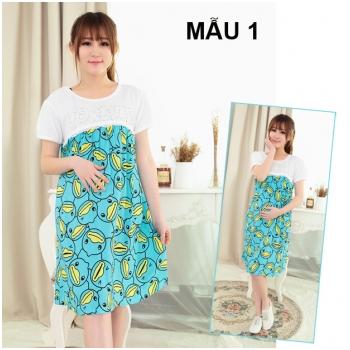 Váy bầu kết hợp cho con bú MB918-1