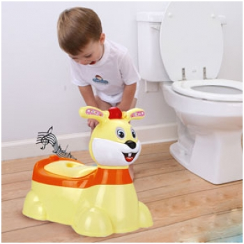 Bô vệ sinh phát nhạc hình chú thỏ xinh xắn
