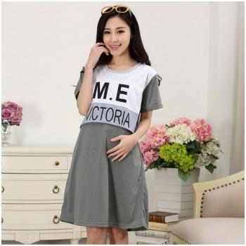 Váy bầu kết hợp cho con bú Victoria MB66-7