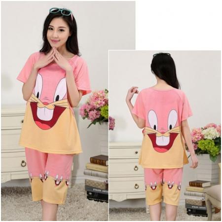 Bộ quần áo bầu kết hợp cho con bú Funny Rabbit MB1621