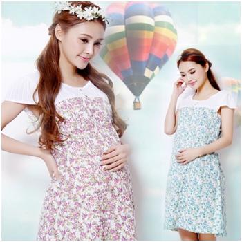 Váy bầu họa tiết hoa nhí XD 0726