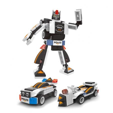 Bộ ghép hình Robot 3 in 1 Tranform Warrior 30102