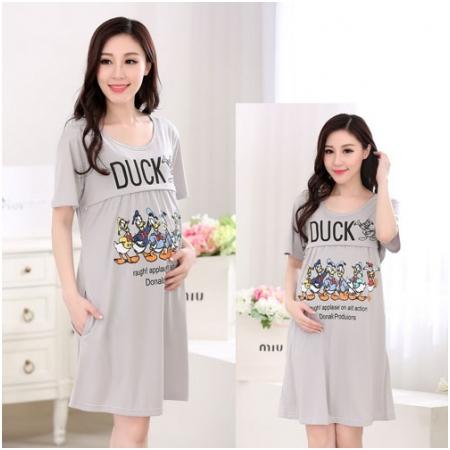 Váy bầu kết hợp cho con bú Duck MB6603