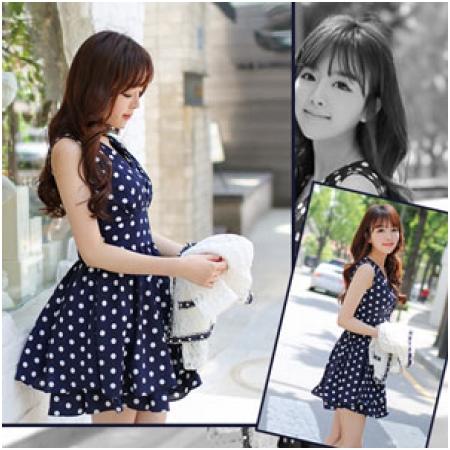 Váy xòe chấm bi MB-9548