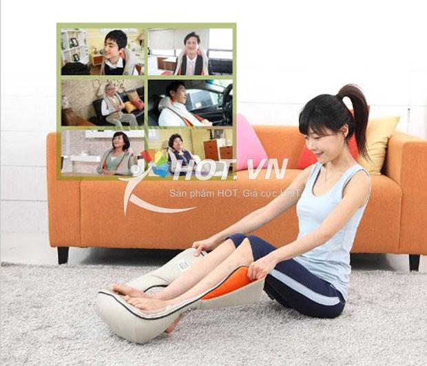 Máy massage chân Nhật Bản, máy mát xa bắp chân, bàn chân, máy mát xa vai gáy Hàn
