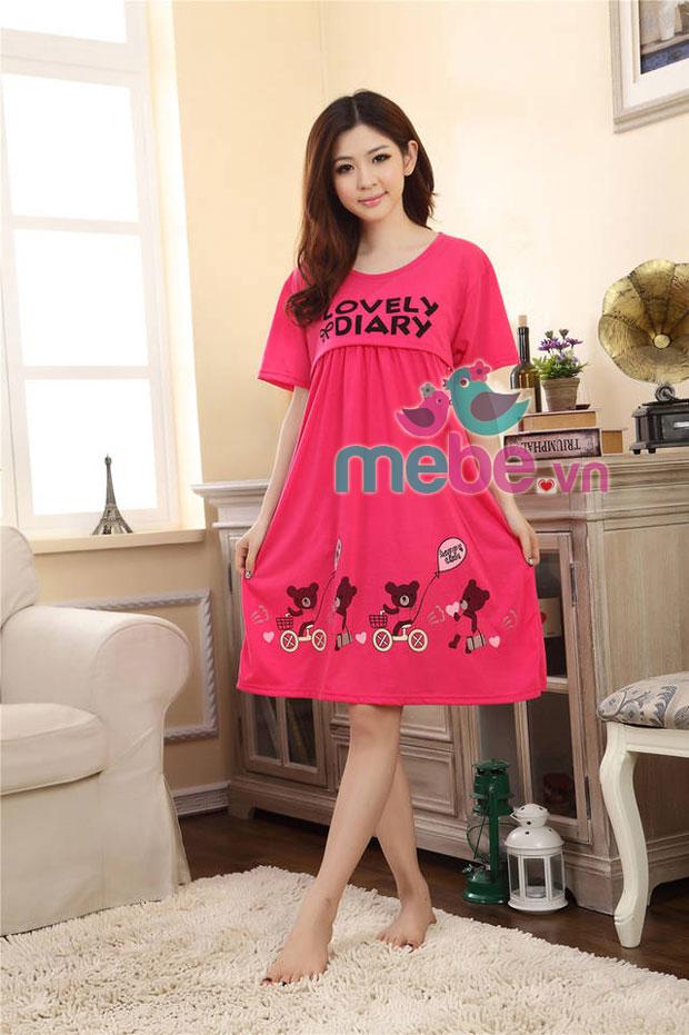 Váy bầu kết hợp cho con bú MB912