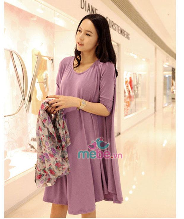 Váy bầu cotton thời trang HCM 0717 sẽ mang đến cho các mẹ